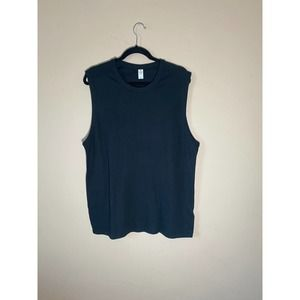 Alternative Apparel Black Muscle Tank Top Large